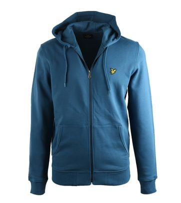 Lyle & Scott Zip Through Hoodie Teal