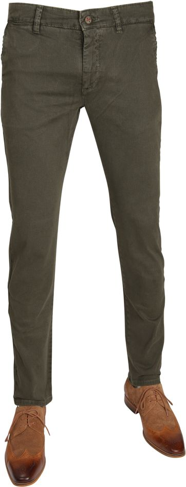 Mac Broek Lennox Modern Fit Army Dessin