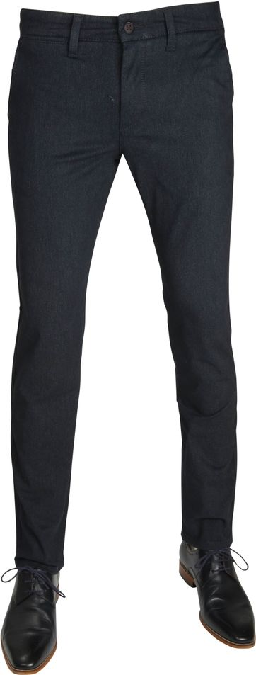 Mac Broek Lennox Modern Fit Navy Dessin