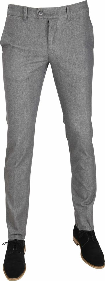 Mac Flatfront Trousers Lennox Grey