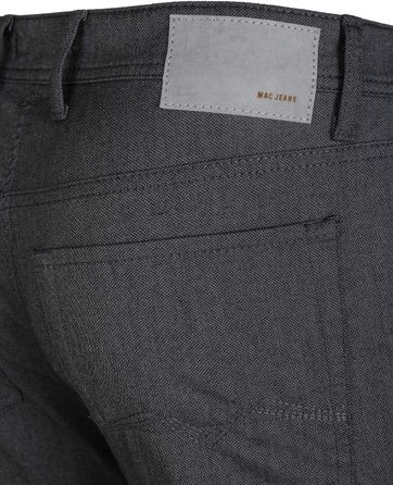 Detail Mac Jeans Arne Pipe Antraciet