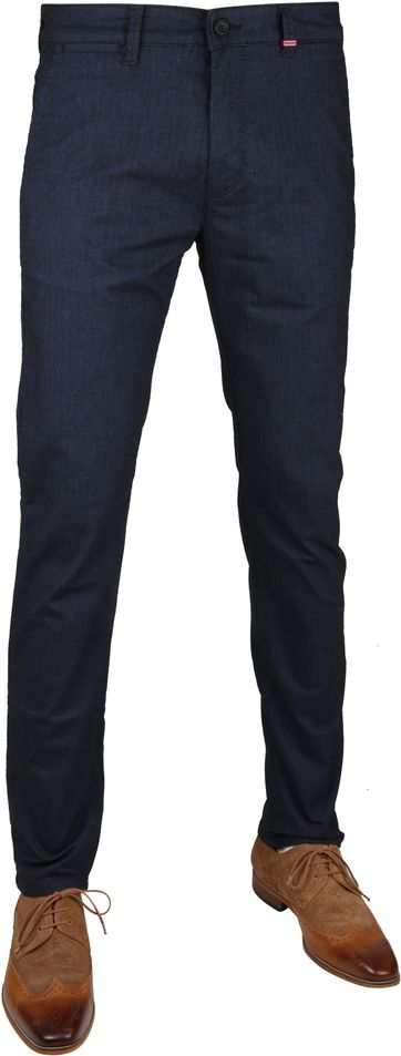 Mac Jeans Lennox Herringbone Navy