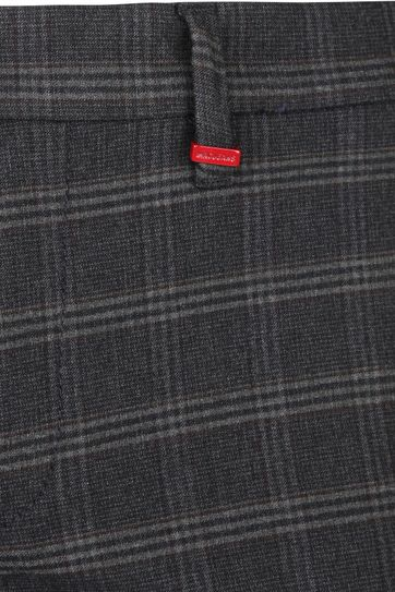 Mac Lennox Chino Check Dark Grey