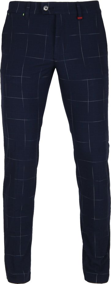 Mac Lennox Chino Checks Dunkelblau