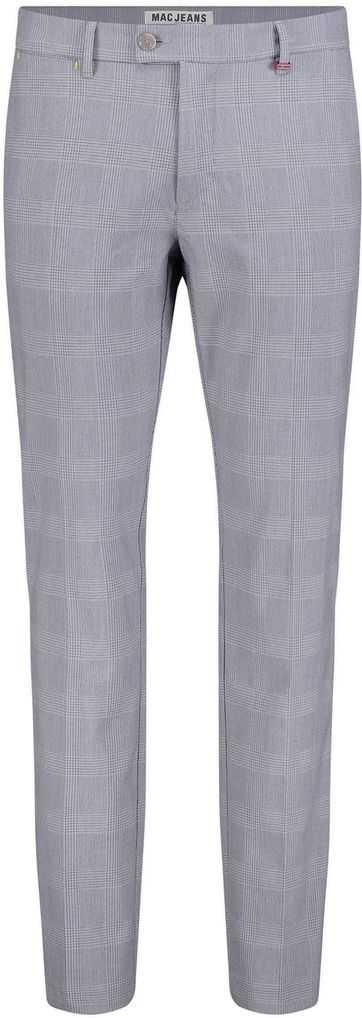 Mac Lennox Chino Checks Grau