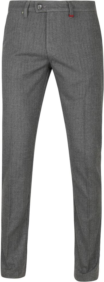 Mac Lennox Chino Herringbone Antraciet