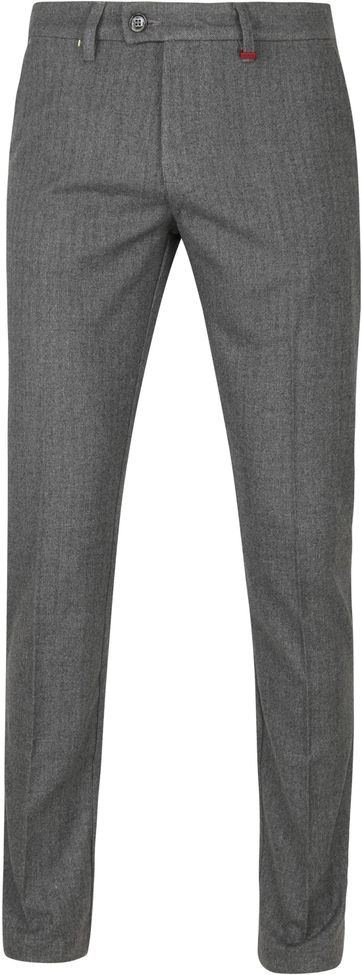 Mac Lennox Chino Herringbone Dark Grey