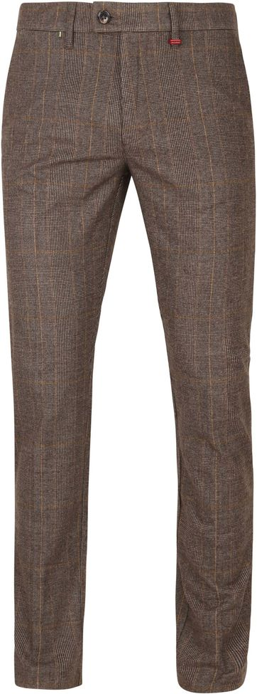 Mac Lennox Chino Taupe Checks