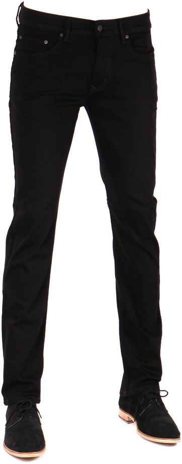 Mac Trousers Arne Stretch Black H900