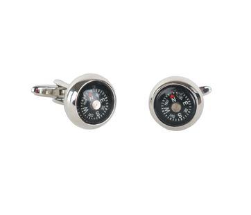 Manchetknoop Zilver Kompas