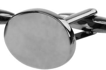 Manschettenknöpfe Oval Dunkelgrau NR96