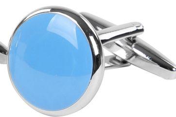 Manschettenknöpfe Rund Blau NR92