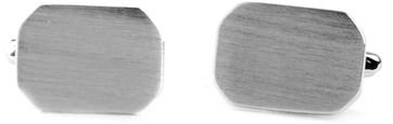 Manschettenknöpfe Silber Rechteck Mat