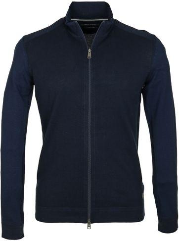 Marc O\'Polo Cardigan Zipper Blue Dark Blue