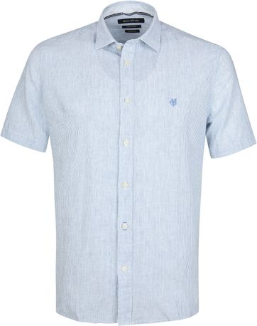 Marc O'Polo Casual Hemd Strepen Blauw