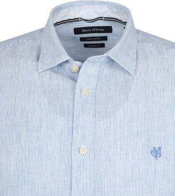 Marc O'Polo Casual Overhemd Strepen Blauw