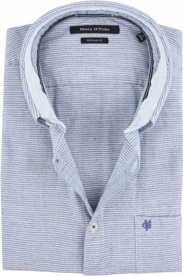 Marc O'Polo Hemd Blauw Strepen MF