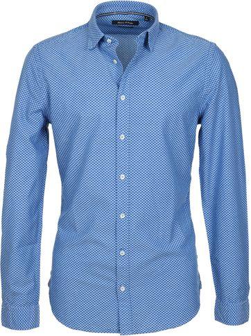 Marc O'Polo Hemd Dessin Blau