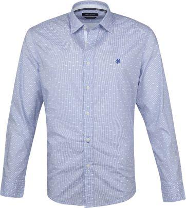 Marc O'Polo Hemd Dessin Blauw