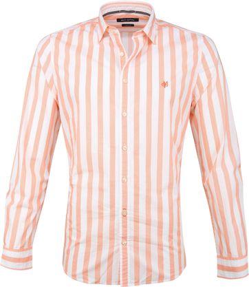 Marc O'Polo Hemd Strepen Oranje
