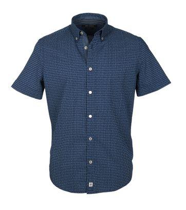 Marc O\'Polo Korte Mouw Overhemd Navy