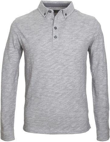 Marc O\'Polo Lange Ärmel Poloshirt Grau