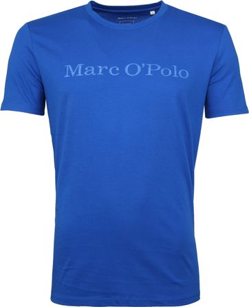 Marc O'Polo Logo T-shirt Blau