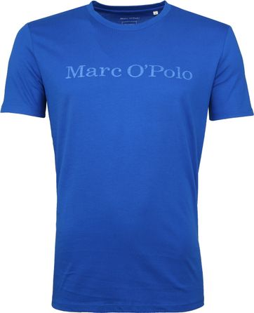 Marc O'Polo Logo T-shirt Blauw