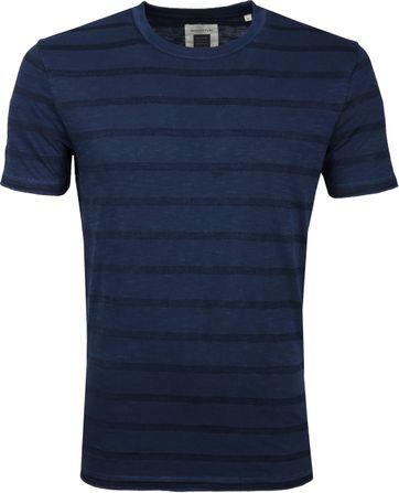 Marc O'Polo Logo T-shirt Streep Navy