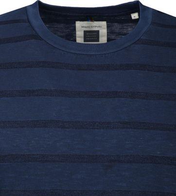 Marc O'Polo Logo T-shirt Stripe Navy