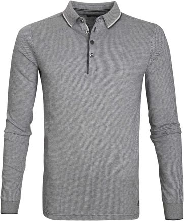 Marc O\'Polo Longsleeve Polo Design Grey