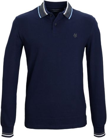 Detail Marc O\'Polo Longsleeve Polo Navy
