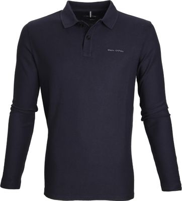 Marc O'Polo Longsleeve Polo Navy