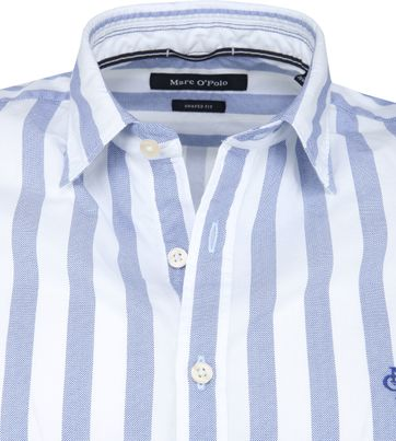 Marc O'Polo Overhemd Blauw Strepen