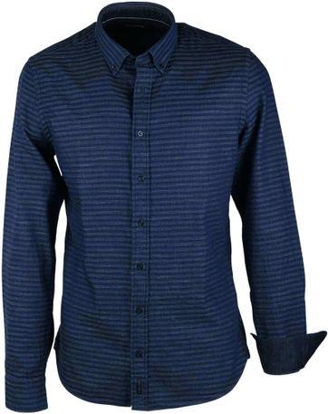 Marc O\'Polo Overhemd Blauw Stripe