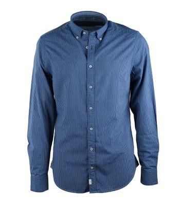 Marc O\'Polo Overhemd Blauwe Streep