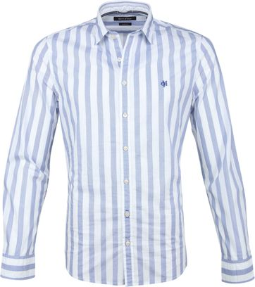 Marc O'Polo Overhemd Blue Stripes