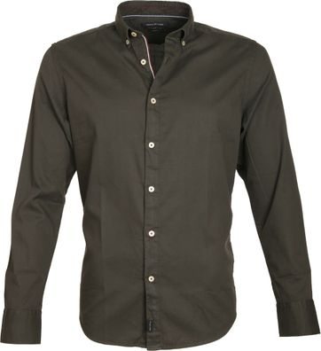 Marc O'Polo Overhemd Button Down Donkergroen