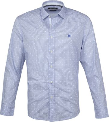 Marc O'Polo Overhemd Dessin Blauw