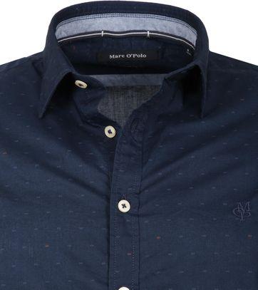 Marc O'Polo Overhemd Donkerblauw