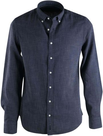 Marc O'Polo Overhemd Donkerblauw Pinpoint