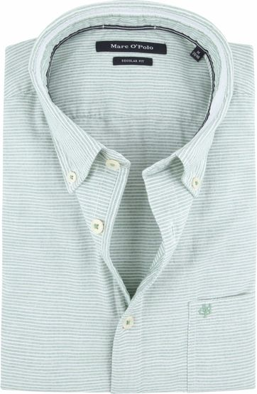 Marc O'Polo Overhemd Green Stripes