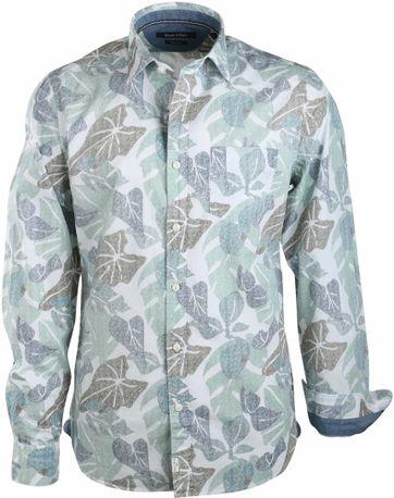 Detail Marc O\'Polo Overhemd Groen Print