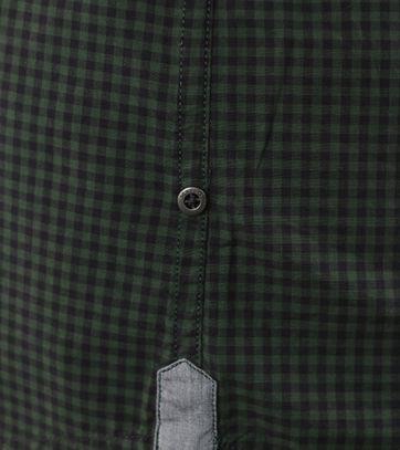 Detail Marc O\'Polo Overhemd Groene Ruitjes