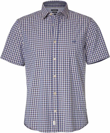 Marc O\'Polo Overhemd Ruit Blauw
