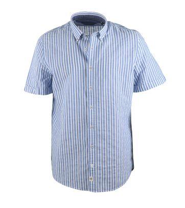 Marc O\'Polo Overhemd Streep Blauw