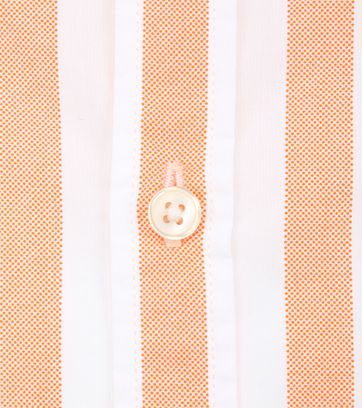 Marc O'Polo Overhemd Strepen Oranje