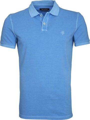 Marc O'Polo Polo Garment Dyed Blauw