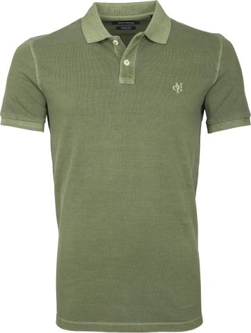 Marc O'Polo Polo Garment Dyed Groen