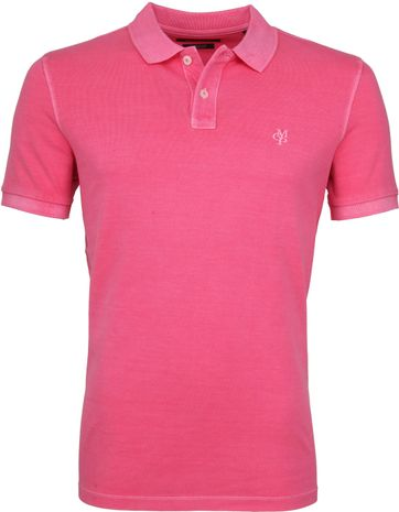 Marc O'Polo Polo Garment Dyed Ibis Roze